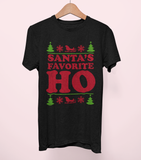 Black shirt saying santa's favorite ho - HighCiti