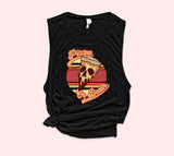 Pizza Or Death Muscle Tank - HighCiti