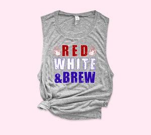 Red White & Brew Muscle Tank