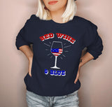 Red Wine And Blue Sweatshirt