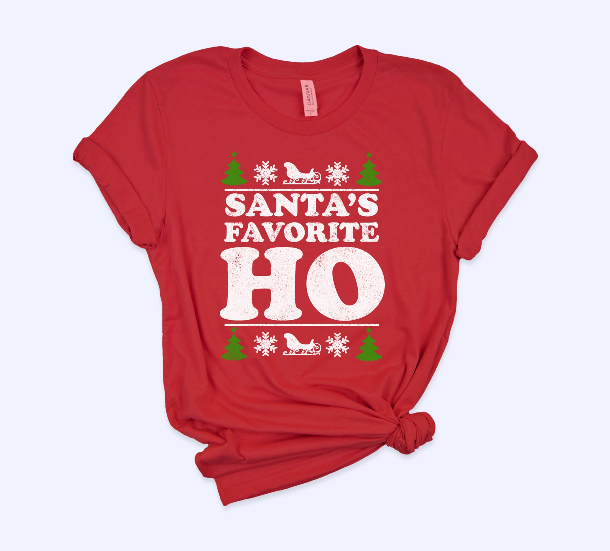 Red shirt saying santa's favorite ho - HighCiti