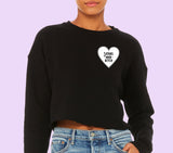 Satans Main Bitch Crop Sweatshirt - HighCiti