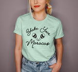 Heather mint shirt that says shake your maracas - HighCiti