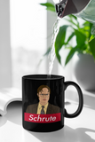 Black mug with dwight schrute from the office parody supreme logo - HighCiti