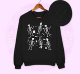 Skeleton Pattern Sweatshirt