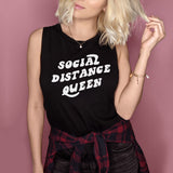 Social Distance Queen Muscle Tank