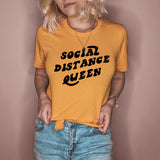 Honey shirt that says social distance queen - HighCiti