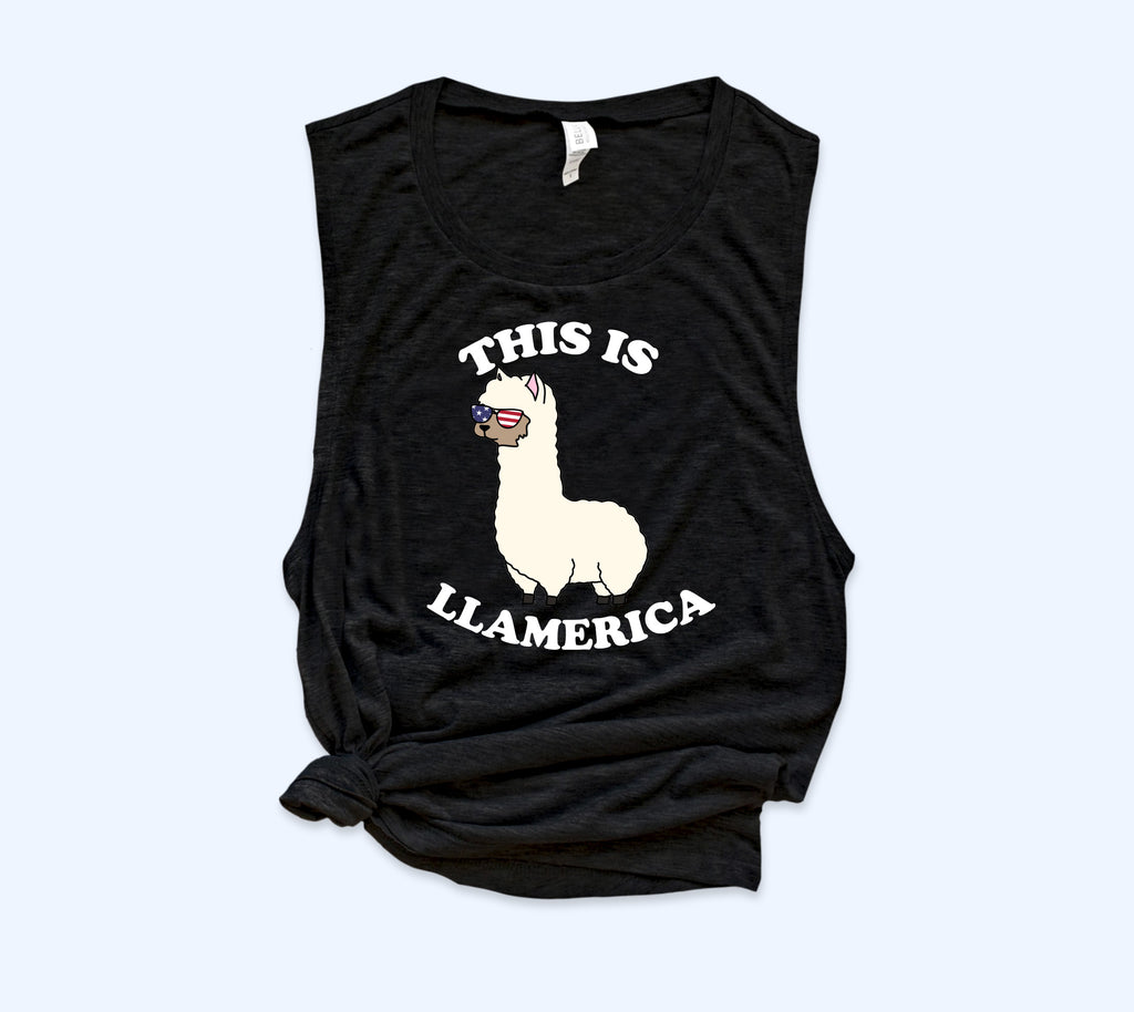 This Is llamerica Muscle Tank - HighCiti