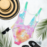 Tie-Dye swimsuit that says claw season - HighCiti
