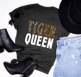 Heather black shirt that says tiger queen - HighCiti