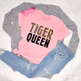 Pink shirt that says tiger queen - HighCiti