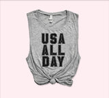 Usa All Day Muscle Tank