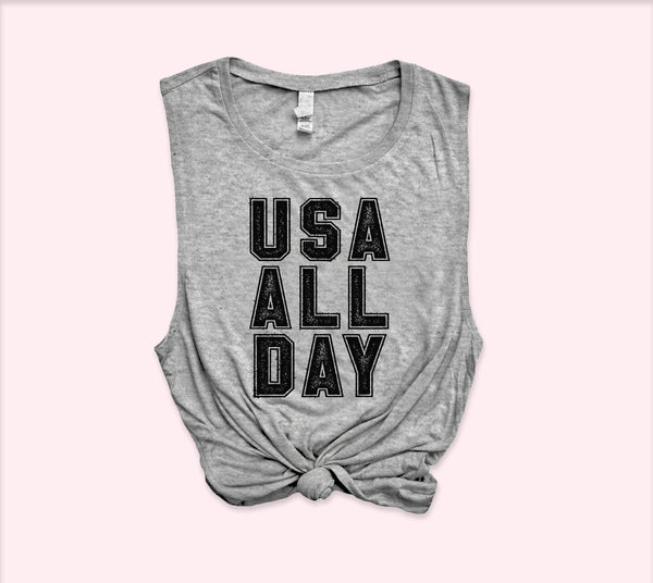 Usa All Day Shirt - HighCiti