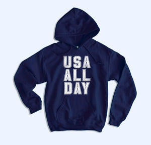 Usa All Day Hoodie - HighCiti