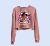 You Can't Spell America Without Erica Crop Sweatshirt