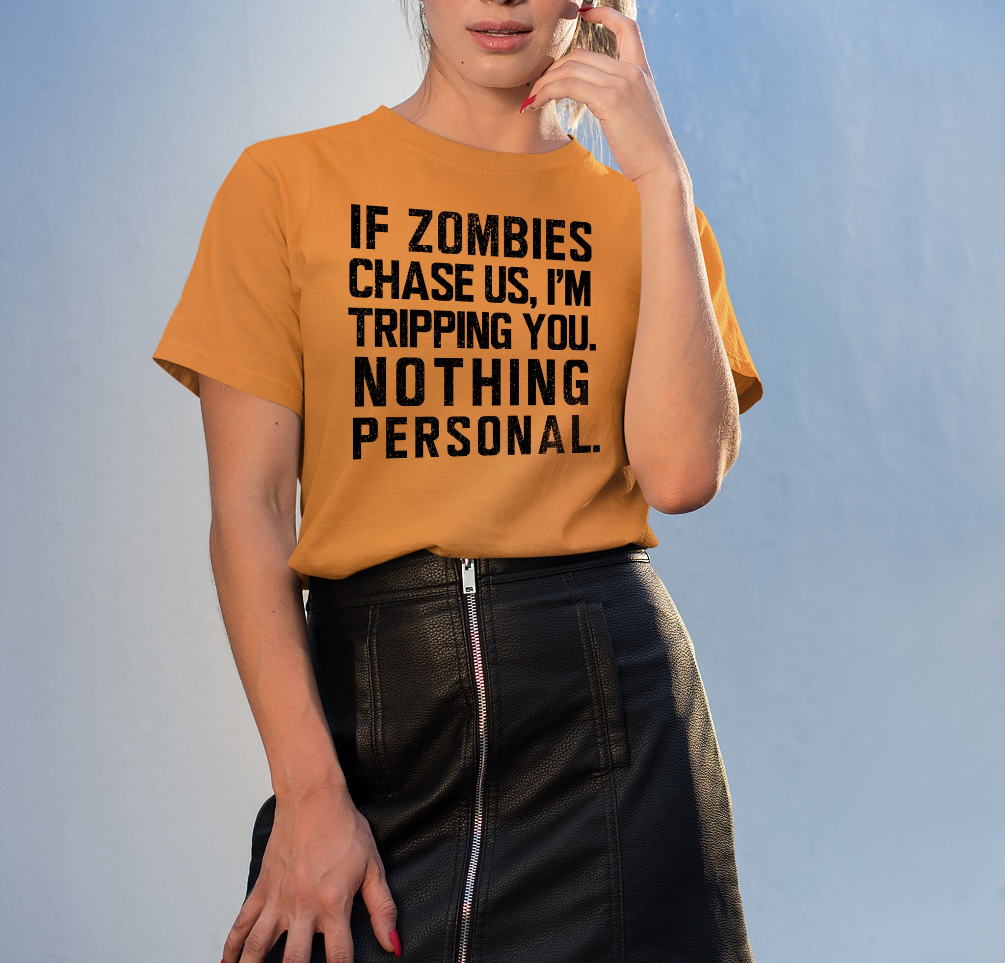 If Zombie Chase Us Shirt