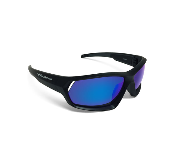 - WindRider Polarized Floating Sunglasses - WindRider Black Blue Mirror