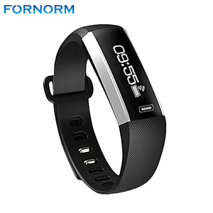 FORNORM M2 Bluetooth 4.0 Smart Bracelet Heart Rate Smartband Fitness Tracker Pedometer Sleep Monitor Call Reminder Alarm Clock