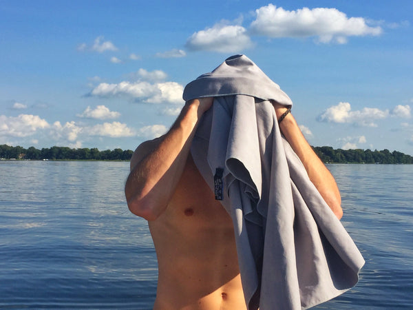 microfiber cloth for hair after swimming in lake