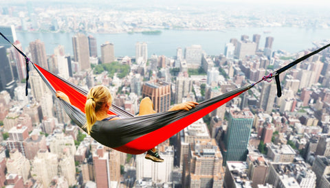 Hammock overlooking city