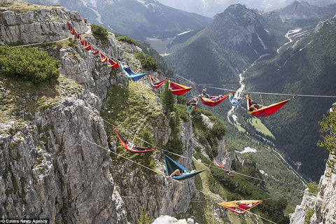Hammocks over valley