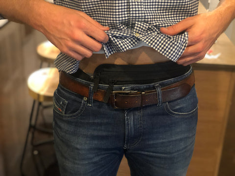 Hidden money belt under clothes