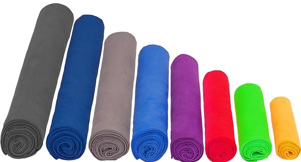 different shapes and sizes of microfiber towels
