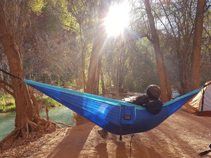 Blue/Light Blue Hammock