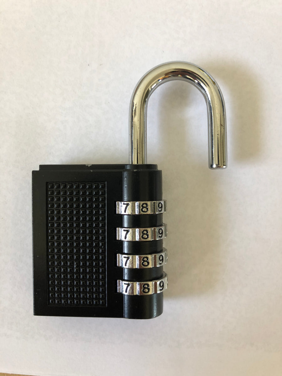 Active Roots combination lock picture with a white background.