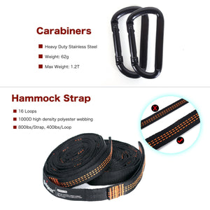 Camping Hammock Rope and Carabiners