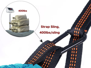 Orange/Black Camping Hammock Carabiner