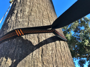 Green/Gray Camping Hammock Tree Straps