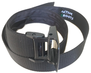 Active Roots Security Belt black plastic clasp belt buckle.