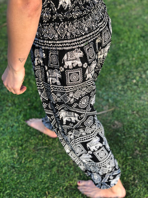 Black Elephant Harem Pants Women