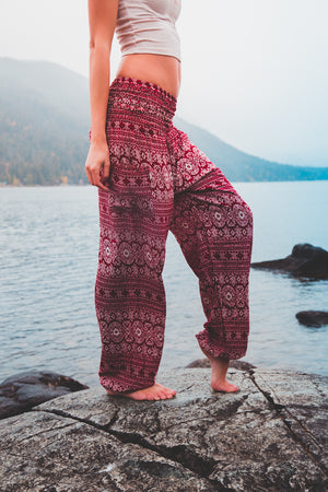 Radical Red Stripe Women's Harem Pants