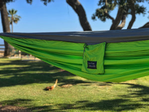 Green/Gray Hammock - Active Roots Blue XL Microfiber Towel