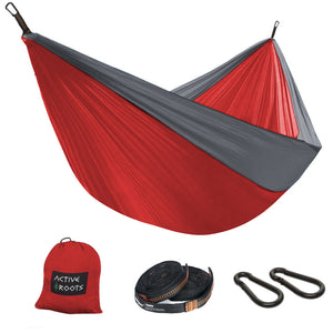 Red/Grey Camping Hammock