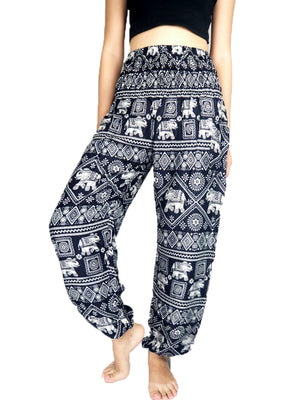 Black Elephant Harem Pants