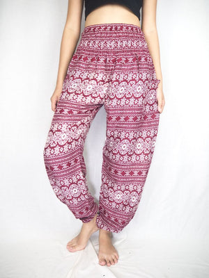 Red Stripe Harem Pants Women
