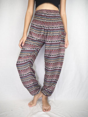 Bohemian brown stripe harem pants