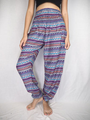 Lavender Stripe Harem Pants Women