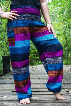 Dark Pastel Stripe Harem Pants