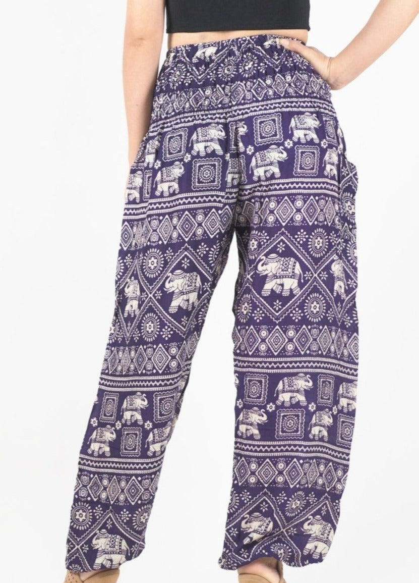 Purple Classic Elephant Pants