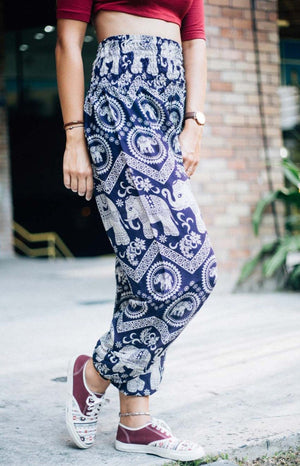Purple Paisley Elephant Pants
