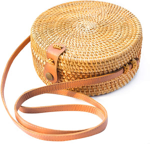 Handwoven Boho Rattan Bag