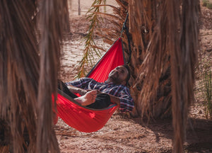 Red/Gray Hammock - Active Roots Blue XL Microfiber Towel