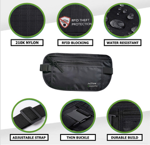 Active Roots RFID Blocking Money Belt