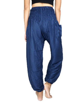 Solid Navy Harem Pants