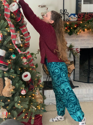 Teal Elephant Pants