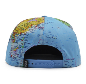 World Map Snapback Hat - Active Roots Blue XL Microfiber Towel